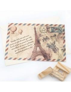 Invitación Boda Vintage Paris