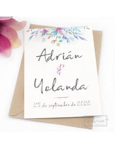Invitación Boda Flores...