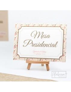 Mesero Boda Flores Vintage