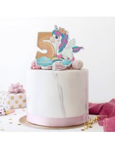 Topper Personalizado Unicornio