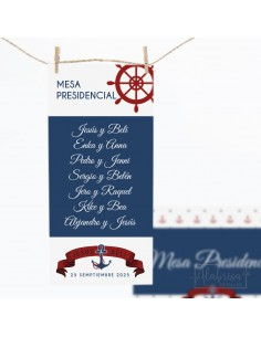 Seating Plan Boda Marinera