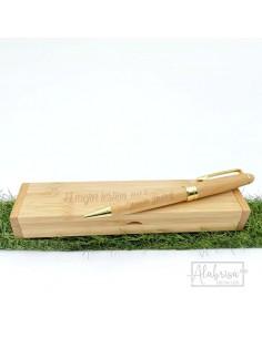 Estuche bolígrafo bambú